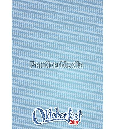 oktoberfest 2019 hintergrund mit blau weiss
