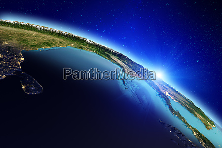 planet earth city lights 3d rendering