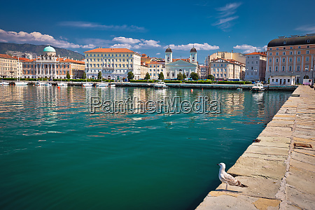 city of trieste waterfront view
