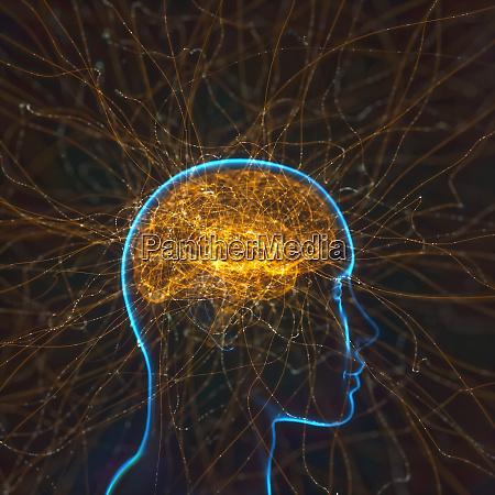 leistungsstarke mind brain neural verbindungen