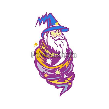 wizard tornado maskottchen