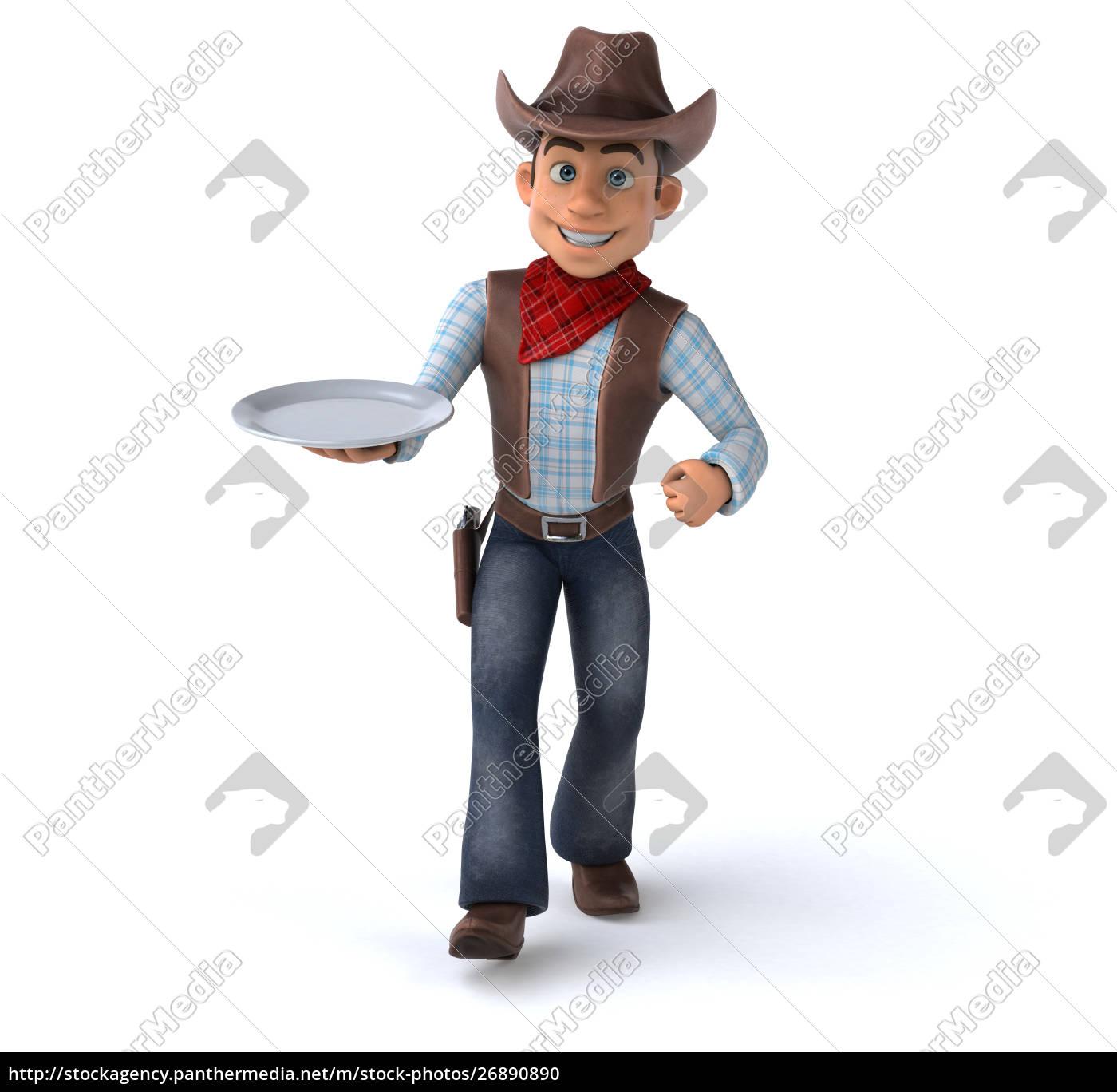 spaß, cowboy, -, 3d-illustration - 26890890