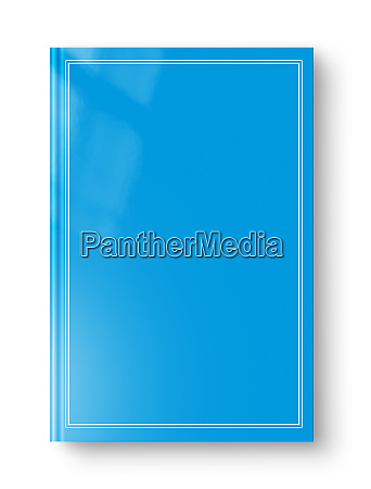 closed blue blank book with frame