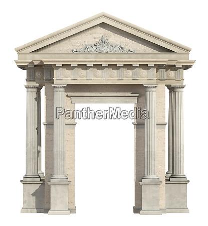 altes portal im neoklassizistischen stil auf