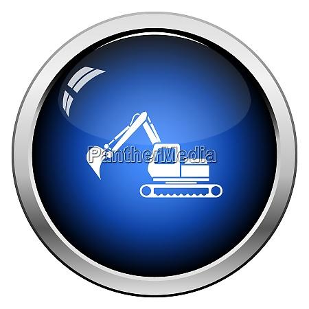 icon of construction excavator