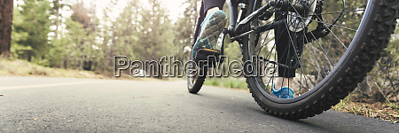 fahrrad auf der strasse