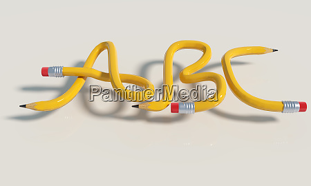 pencil knots with a b and