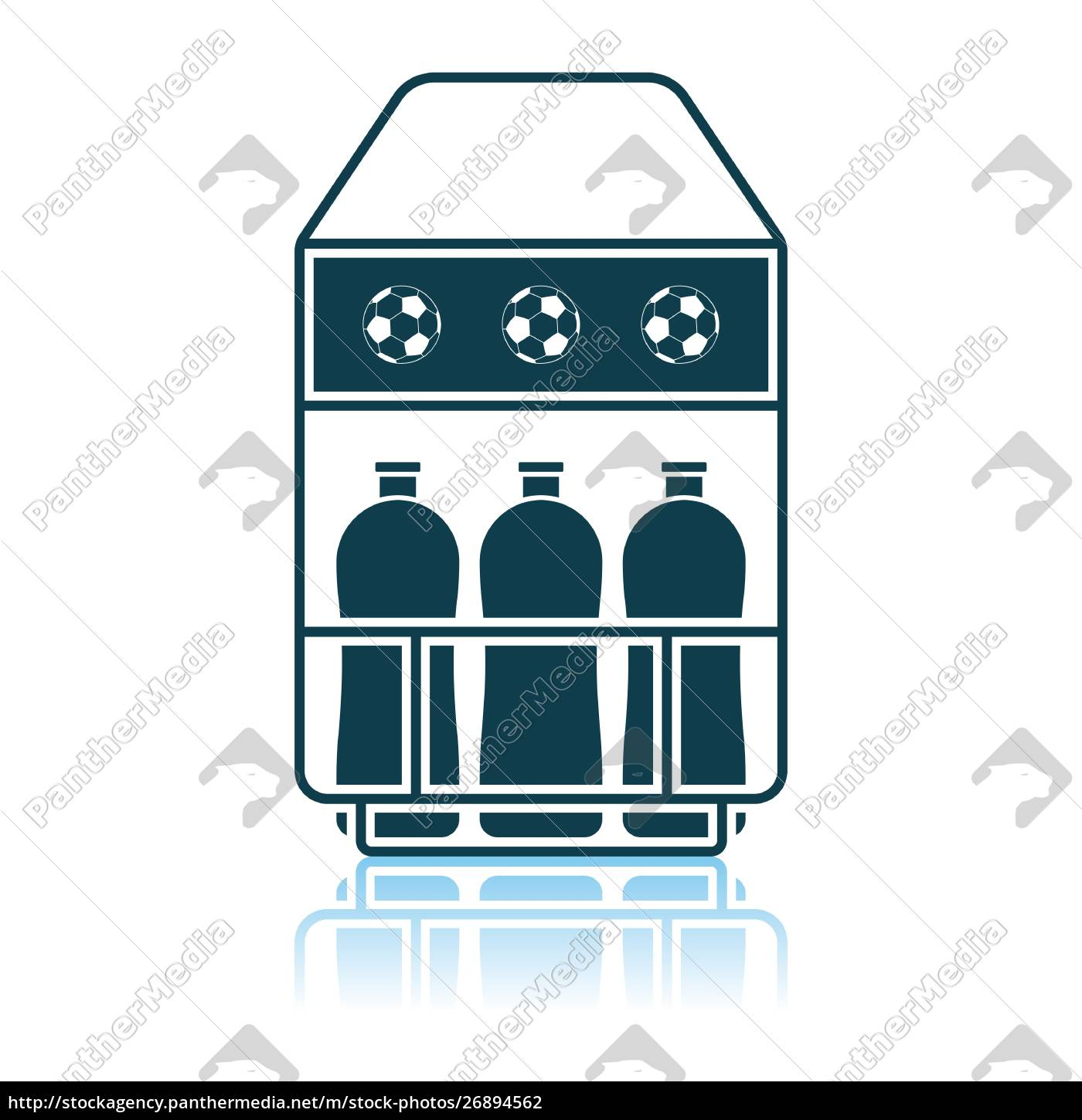 fussball, flaschencontainer, icon - 26894562