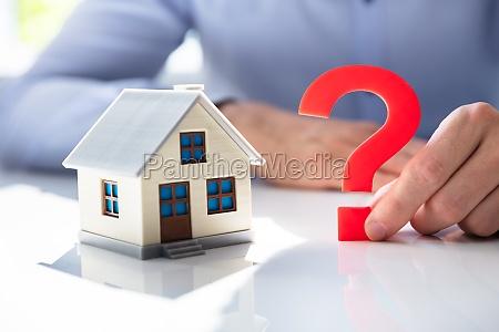 frage haus marke verwirrung hypothek haus