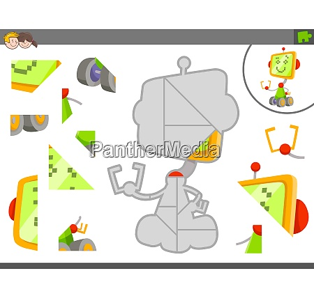 jigsaw puzzle game with robot or