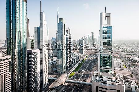aerial view of dubai cityscape united