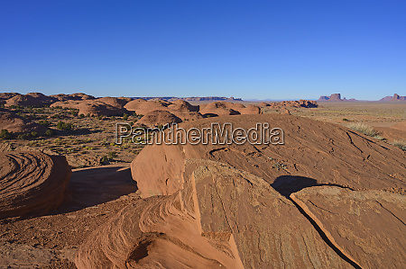 smooth rock formations in monument valley