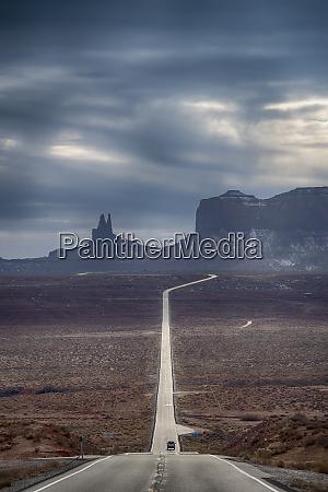 road through monument valley utah usa
