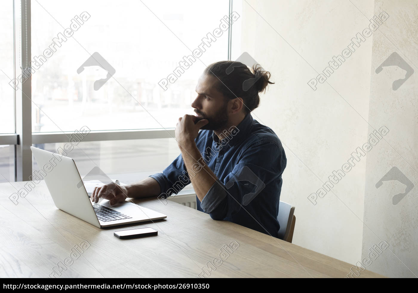 young, businessman, using, , laptop - 26910350