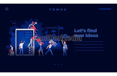 concept web site page design template