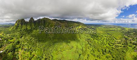 usa hawaii kauai kalalea mountain hole