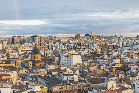 spain valencia view from cathedral at