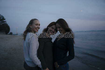 germany hamburg happy mother with two