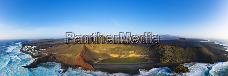 spain canary islands lanzarote aerial view