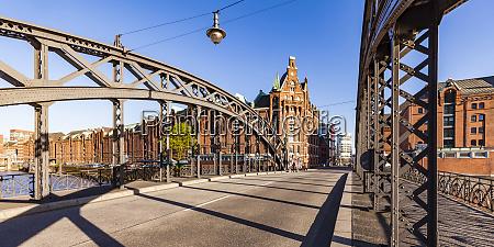 germany hamburg brooks bridge and old