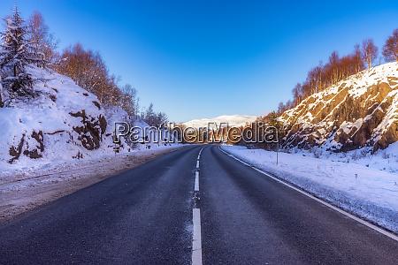 united kingdom scotland highlands a9 road