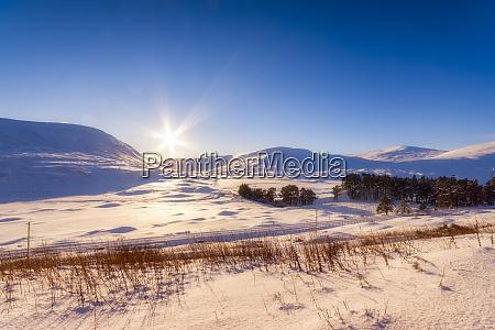 united kingdom scotland highlands landscape in