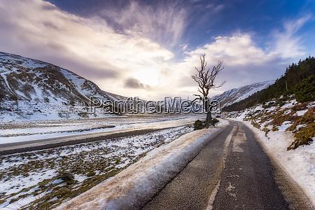 united kingdom scotland highlands empty road