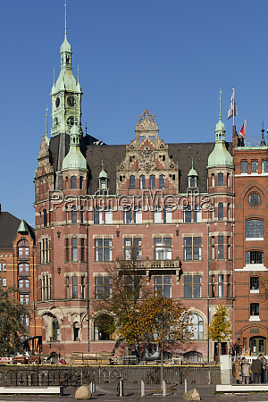 germany hamburg speicherstadt speicherstadt town hall