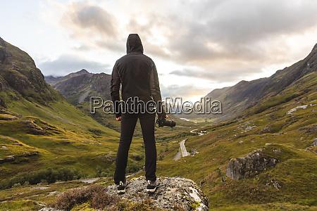 uk scotland man looking at view