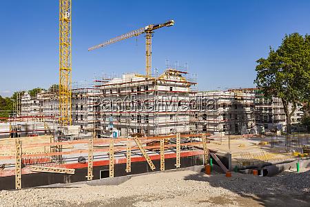 deutschland stuttgart neubauten baustelle hausbau
