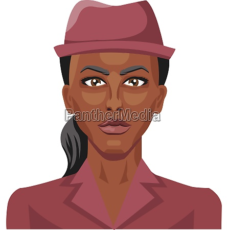pretty african girl wearing a hat