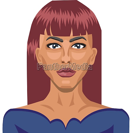 pretty girl with red hair illustration