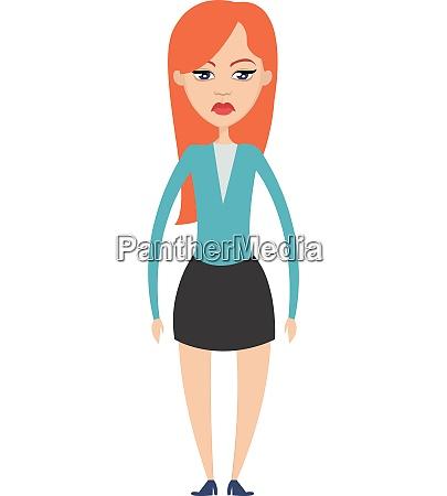 blue eye girl illustration vector on