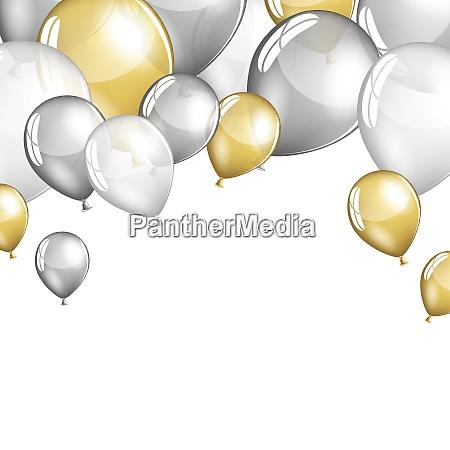 festliche luftballons hintergrund