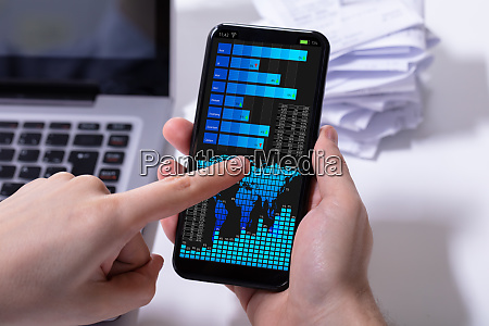 stock market broker using mobile phone