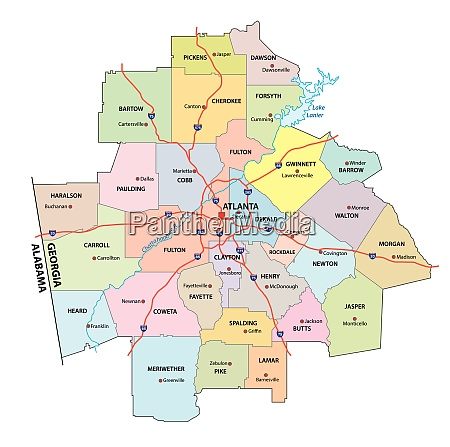 administrative and political road map of