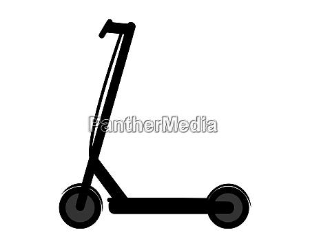 e scooter auf weissem hintergrund