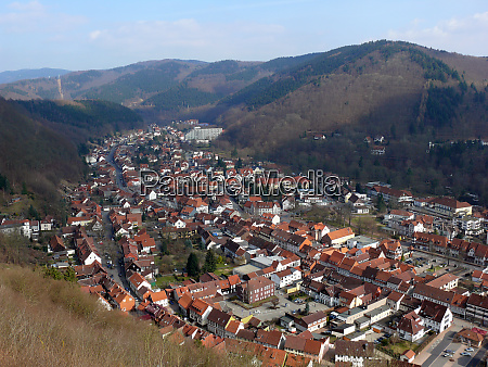 landscape in the harz with the