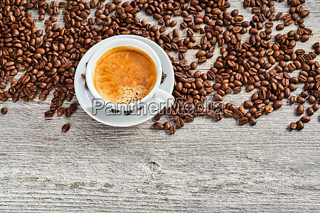 cup of delicious espresso coffee with