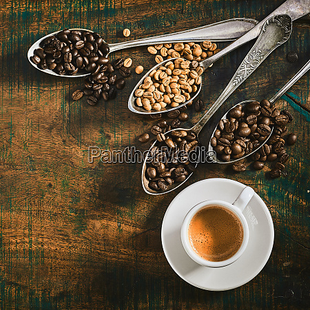 cup of strong espresso coffee with