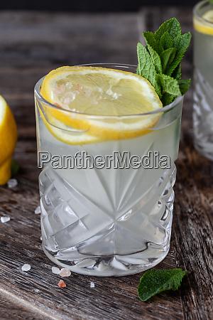 gin tonic mit frischer zitrone