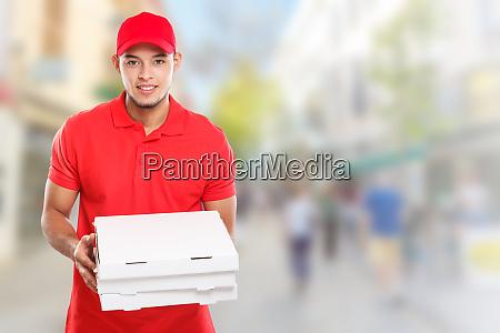 pizza boy delivery service latin man