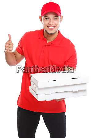 pizza delivery latin boy order delivering
