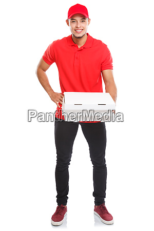 pizza delivery latin man boy order