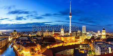 berlin panorama skyline tv tower townhall