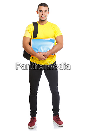 student college young man full body