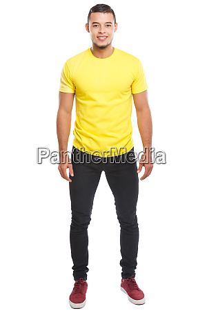 young latin man full body portrait