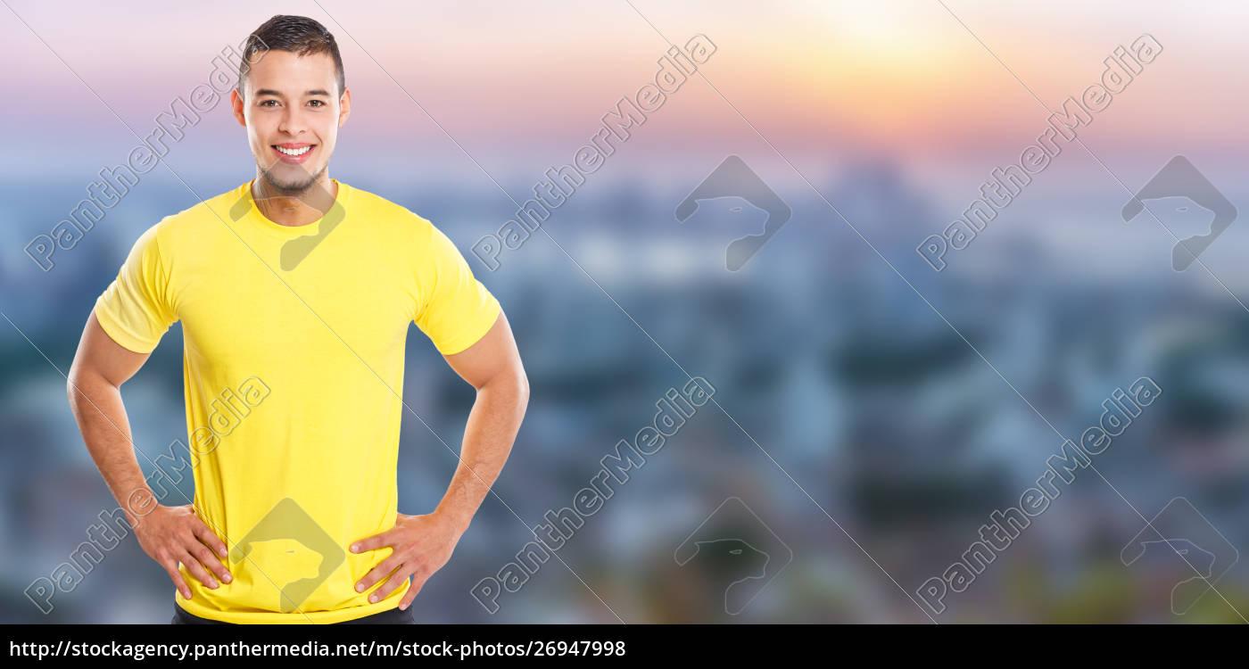 junge, latin, mann, lächelnd, glücklich, porträt - 26947998