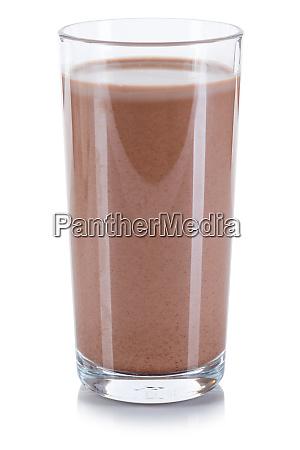 frische schokolade getraenk milchglas isoliert auf