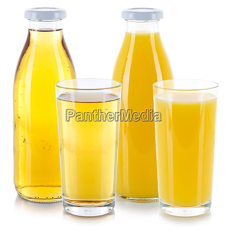 orange and apple juice drink glass